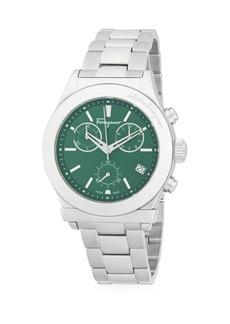 Ferragamo 42mm Stainless Steel Sunray Bracelet Watch