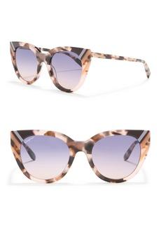 Ferragamo 50mm Cat Eye Sunglasses