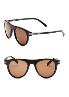 Ferragamo 51MM Round Sunglasses