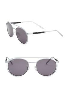 Ferragamo 54MM Metallic Aviator Sunglasses