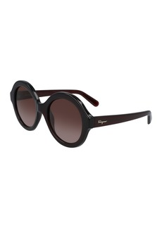 Ferragamo 54mm Oversize Round Sunglasses