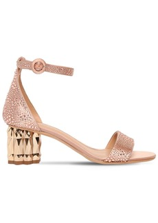 Ferragamo 55mm Azalea Embellished Satin Sandals