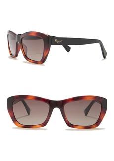 Ferragamo 55mm Rectangular Cateye Sunglasses