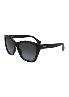 Ferragamo 56mm Square Cateye Sunglasses