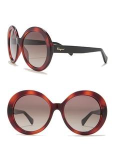 Ferragamo 57mm Oversize Round Sunglasses