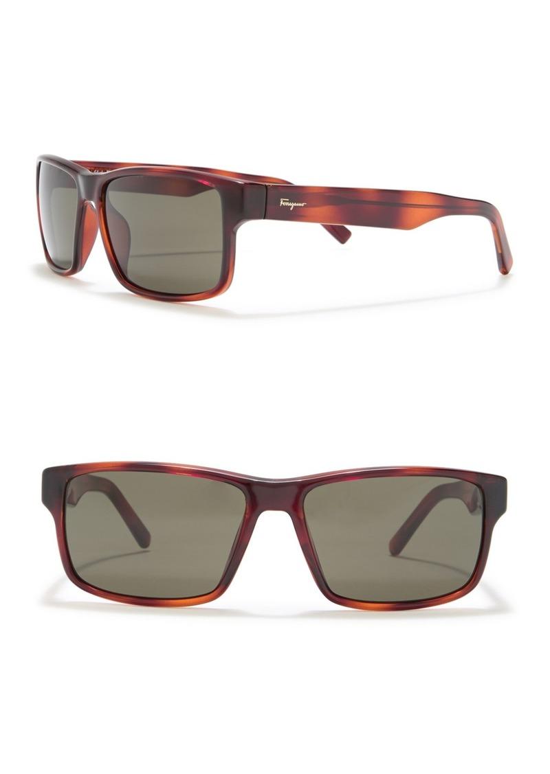 Ferragamo 58mm Rectangle Sunglasses