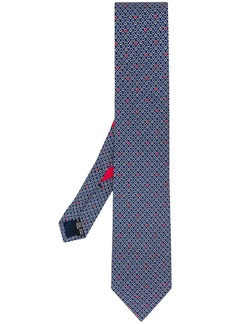 Ferragamo ace, spade and heart print tie