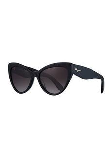 Ferragamo Acetate Cat-Eye Sunglasses