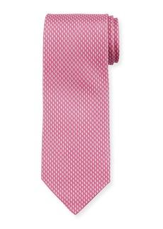 Ferragamo Acorn Silk Tie  Pink