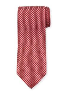 Ferragamo Acorn Silk Tie  Red