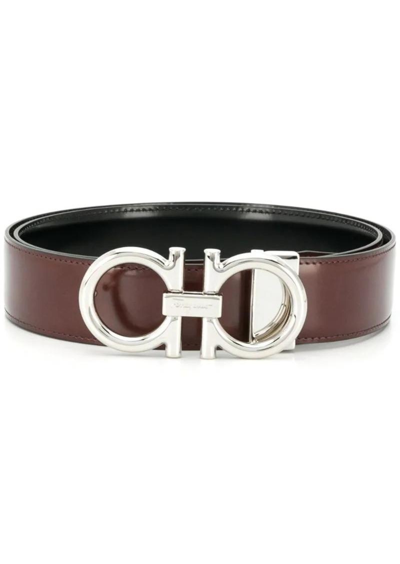 Ferragamo adjustable reversible Gancini belt