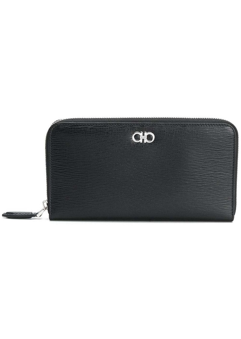 Ferragamo all-around zip Gancio wallet