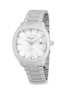 Ferragamo Analog Rounded Stainless Steel Bracelet Watch
