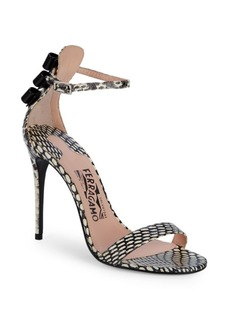 Ferragamo Angie Snakeskin Sandals