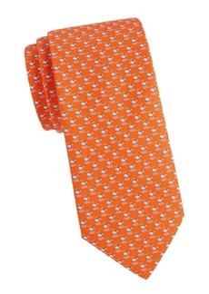 Ferragamo Animal-Print Silk Tie