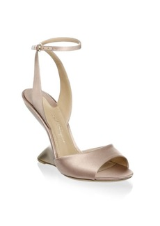 Ferragamo Arsina Satin Ankle-Strap Sandals