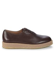 Ferragamo Avordmoon Plus Leather Espadrille Oxfords