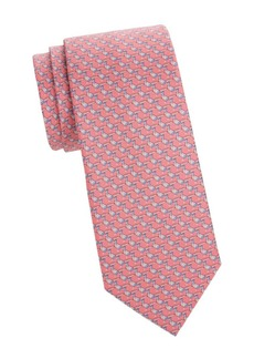 Ferragamo Baldo Abstract Print Silk Tie