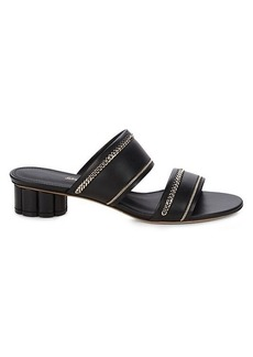 Ferragamo Belluno Slip-On Leather Sandals