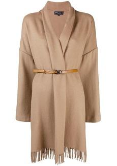 Ferragamo belted cape coat