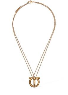 Ferragamo Big 3d Logo Charm Short Necklace