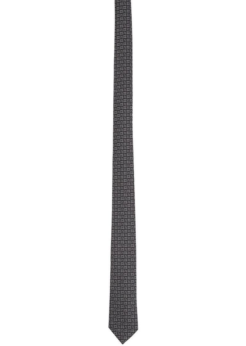 Ferragamo Black & Grey Laos Tie