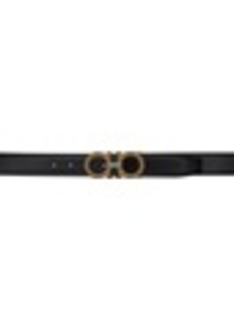 Ferragamo Black Adjustable Gancini Belt