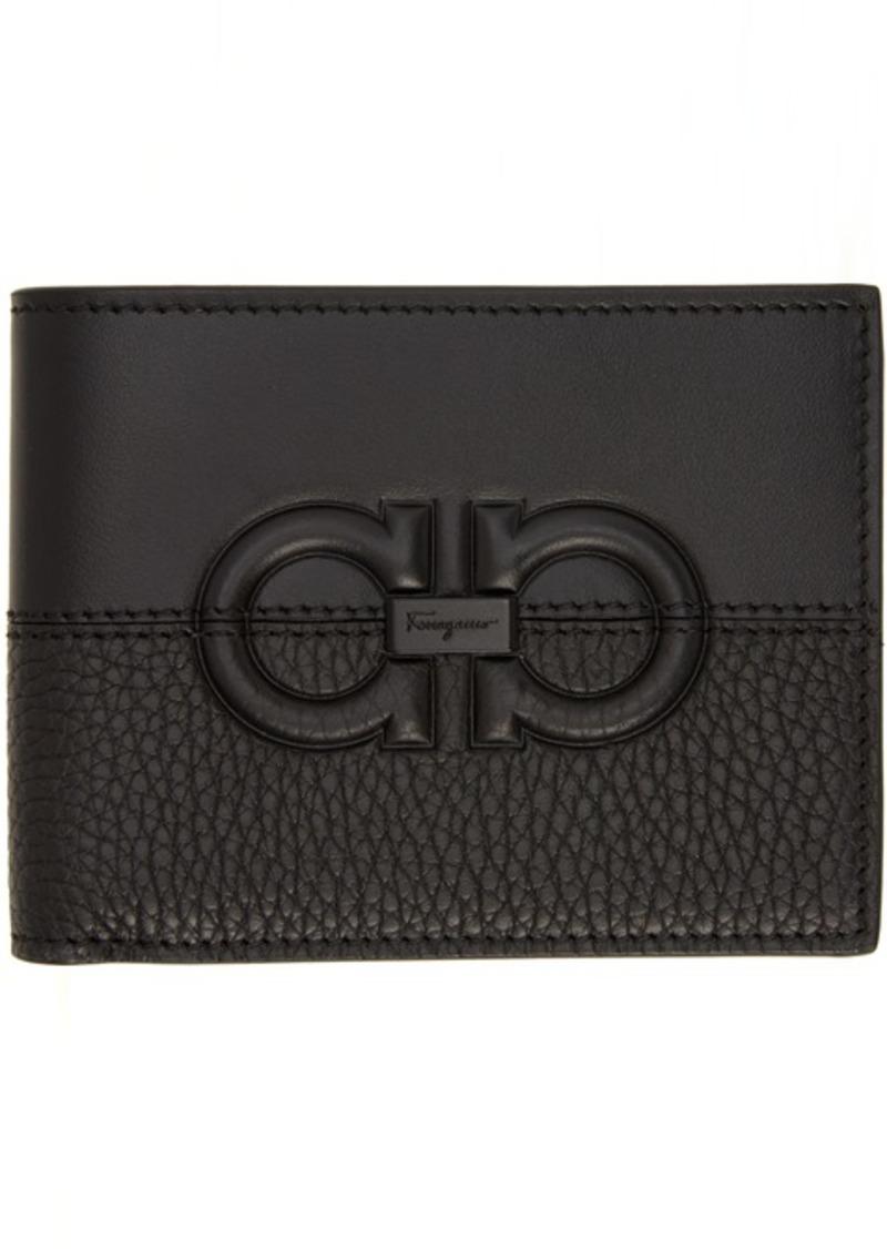 Ferragamo Black Firenze Logo Bifold Wallet