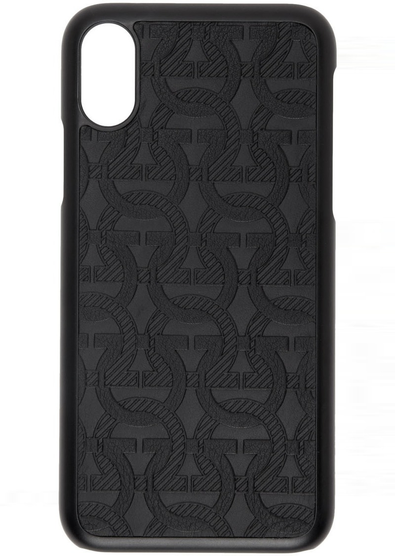 Ferragamo Black Gancini Embossed iPhone X Case