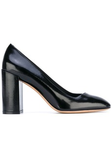 Ferragamo block heel pumps