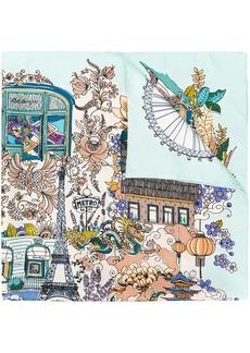 Ferragamo Boutiques print foulard