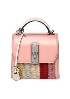 Ferragamo Boxyz Leather Top Handle Bag