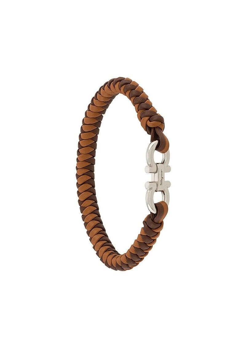 Ferragamo braided Gancini bracelet