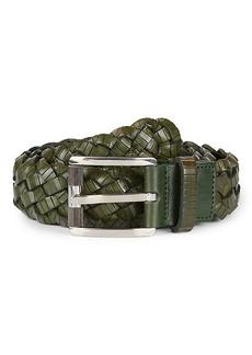 Ferragamo Braided Leather Belt
