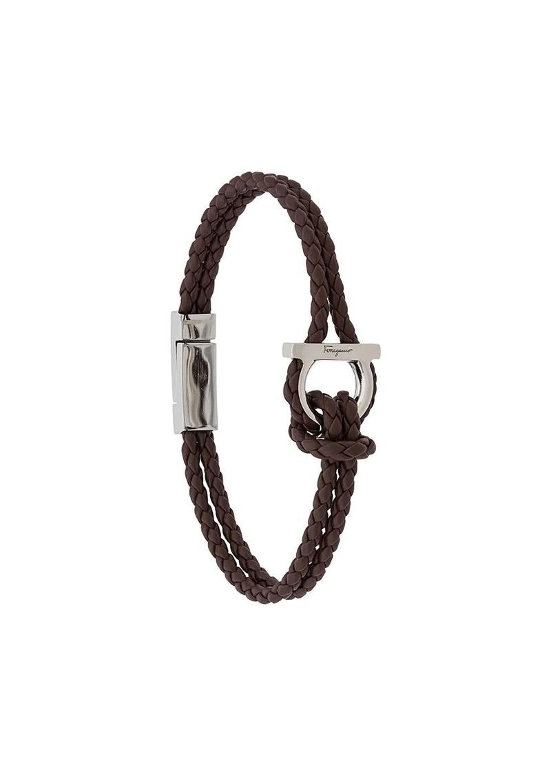 Ferragamo braided leather bracelet
