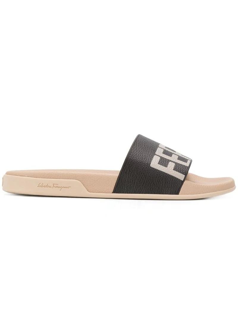 Ferragamo brand logo slippers