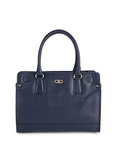 Ferragamo Briana Oscore Leather Top Handle Bag