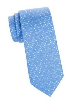 Ferragamo Buca Abstract Print Silk Tie