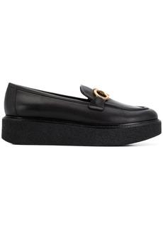 Ferragamo buckled platform loafers