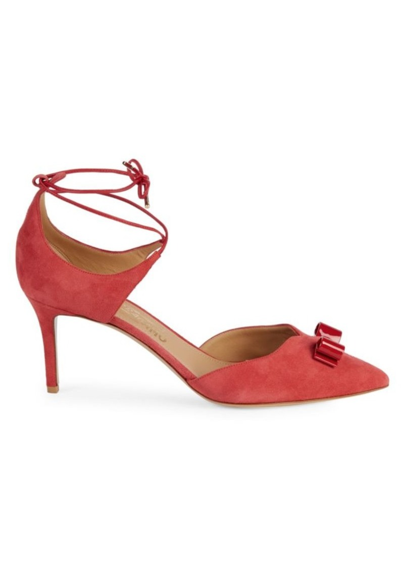 Ferragamo Carolyn Tie Ankle Pumps