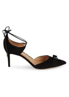 Ferragamo Carolyn Tie Ankle Pumps