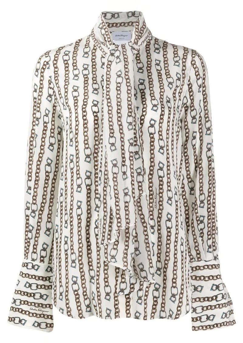 Ferragamo chain print shirt
