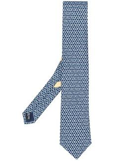 Ferragamo chess piece print silk tie