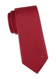 Ferragamo Chevron Silk Tie