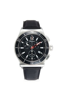 Ferragamo Chronograph Two-Tone Stainless Steel & Leather Watch