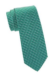 Ferragamo Citrus Print Silk Tie