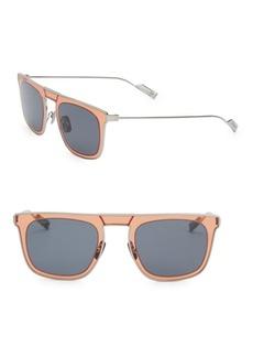 Ferragamo Classic 51MM Elegant Stainless Steel Square Sunglasses