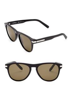 Ferragamo Classic 55MM Round Sunglasses
