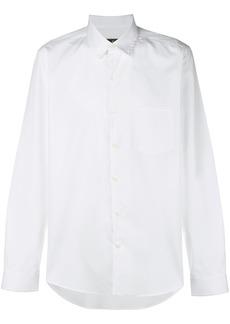 Ferragamo classic curved hem shirt