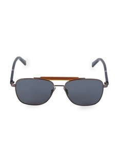 Ferragamo Classic Logo 56MM Modern Navigator Sunglasses